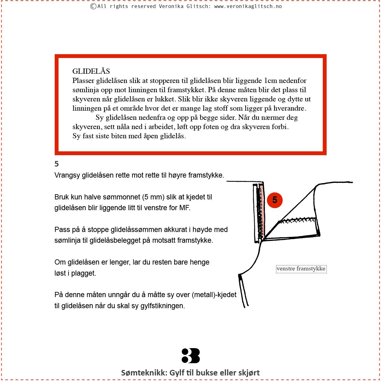 Gylf glidelås, Bloggoppskrift3