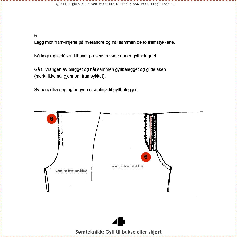 Gylf glidelås, Bloggoppskrift4
