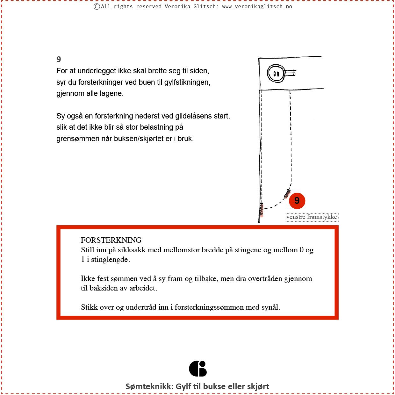 Gylf glidelås, Bloggoppskrift6