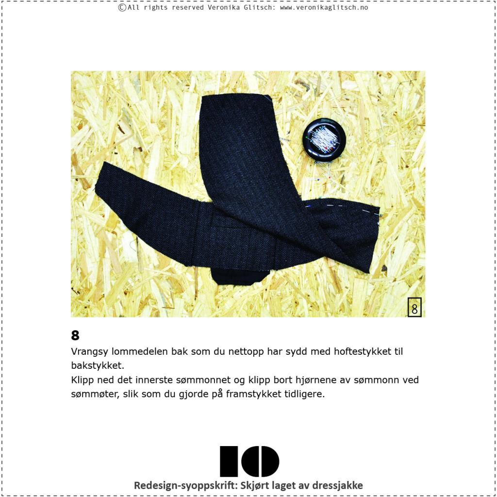 Skjørt laget av dressjakke, redesignsyoppskrift10