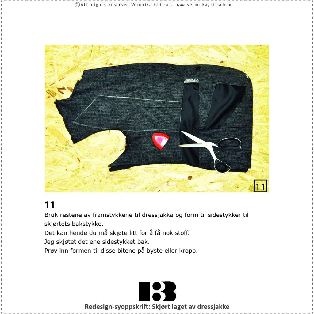 Skjørt laget av dressjakke, redesignsyoppskrift13
