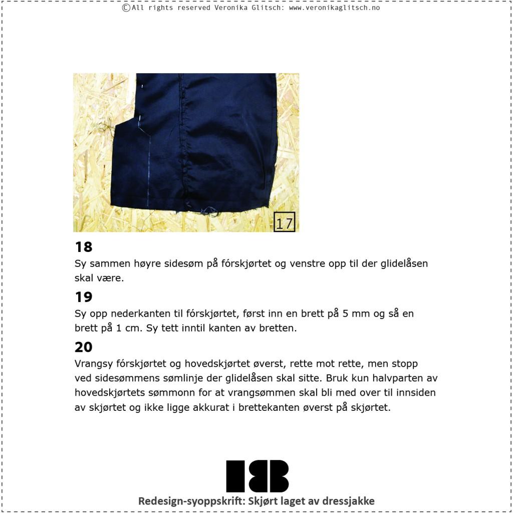Skjørt laget av dressjakke, redesignsyoppskrift18
