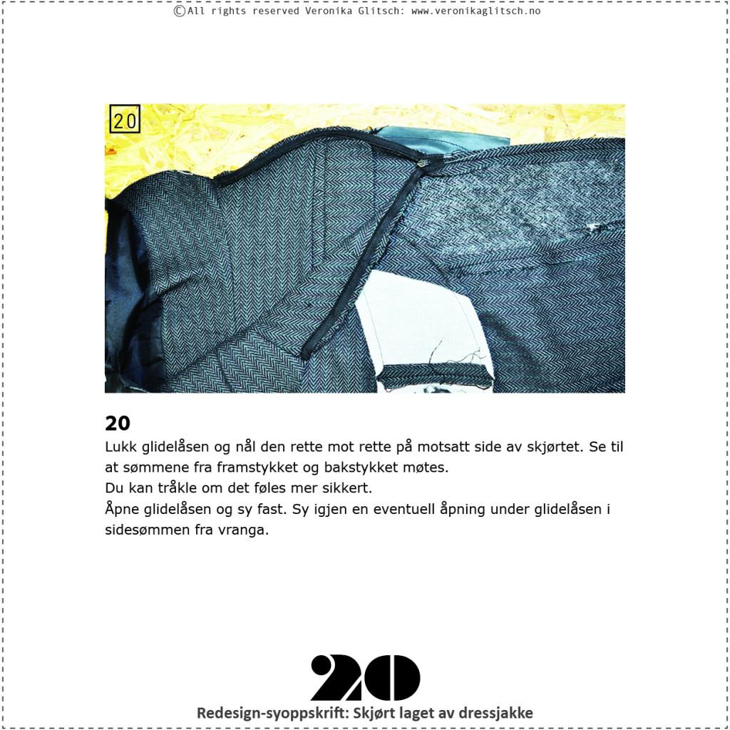 Skjørt laget av dressjakke, redesignsyoppskrift20