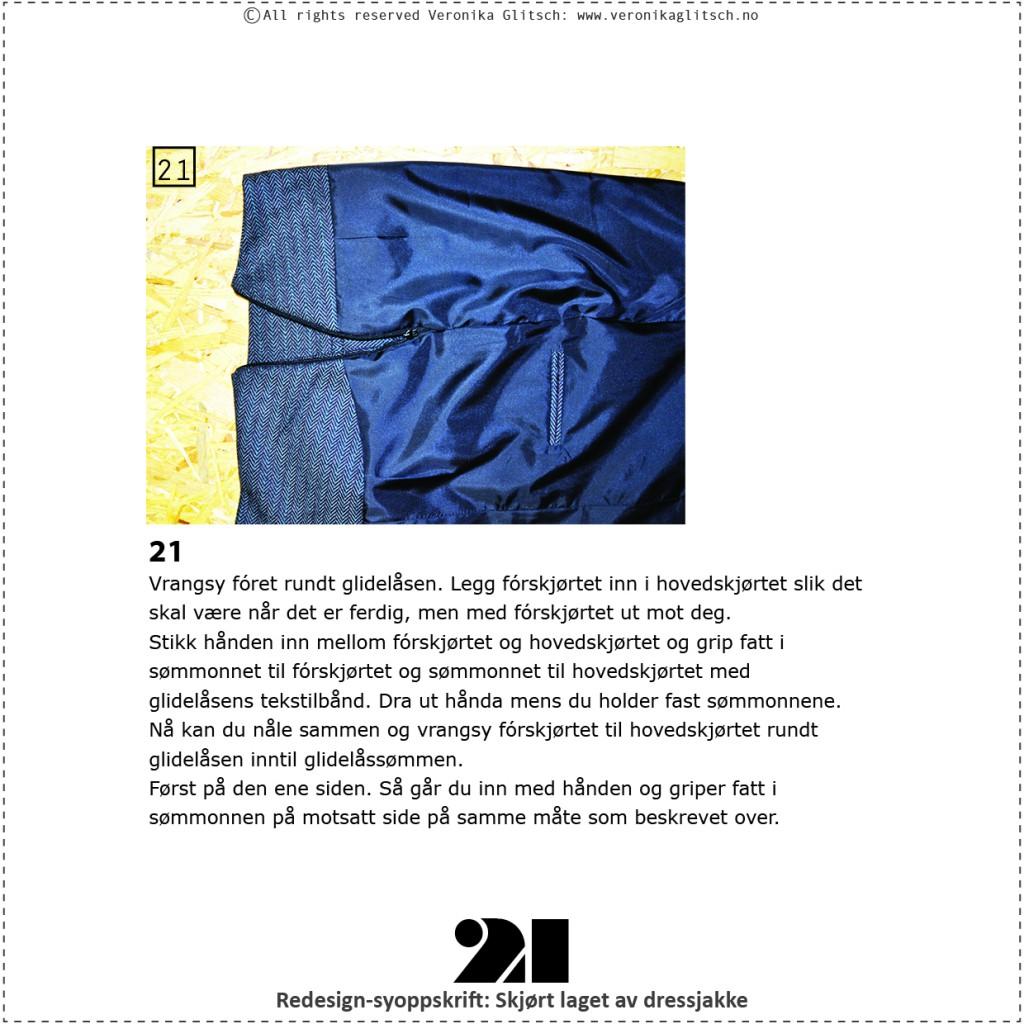 Skjørt laget av dressjakke, redesignsyoppskrift21