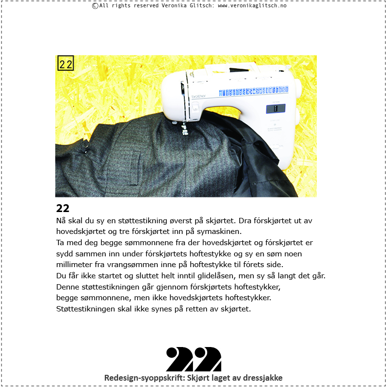 Skjørt laget av dressjakke, redesignsyoppskrift22