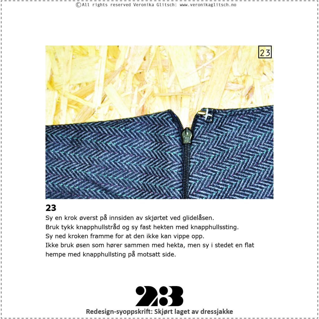 Skjørt laget av dressjakke, redesignsyoppskrift23