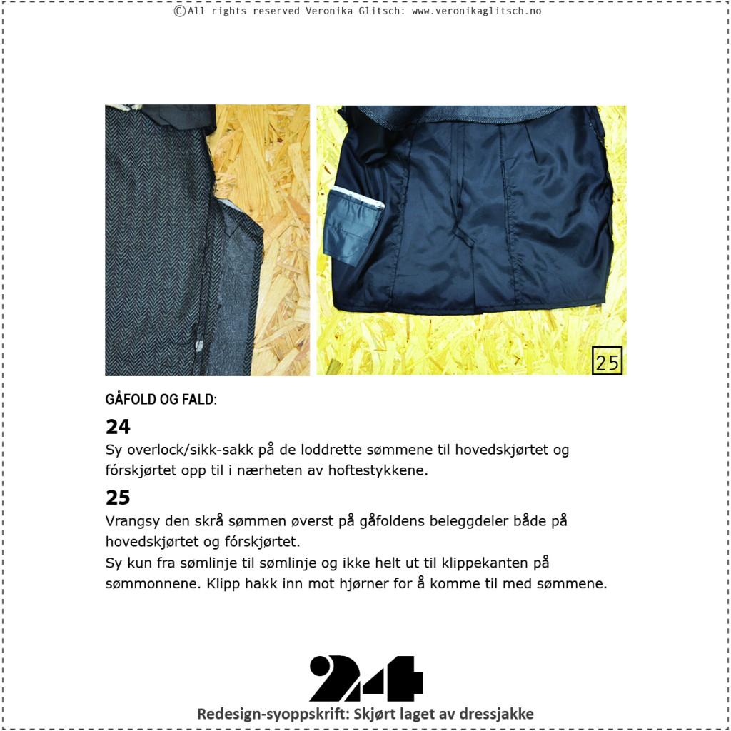Skjørt laget av dressjakke, redesignsyoppskrift24