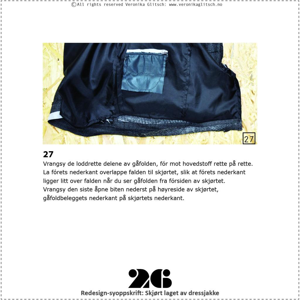 Skjørt laget av dressjakke, redesignsyoppskrift26