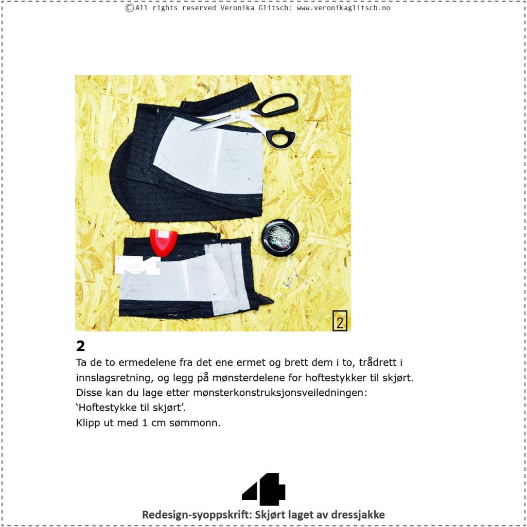 Skjørt laget av dressjakke, redesignsyoppskrift4