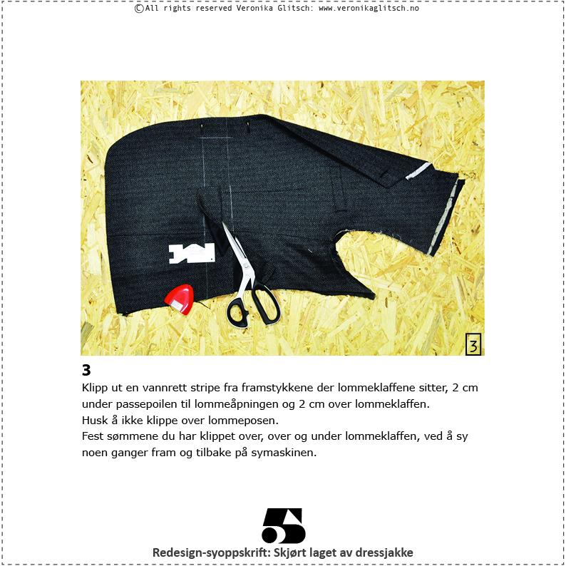 Skjørt laget av dressjakke, redesignsyoppskrift5