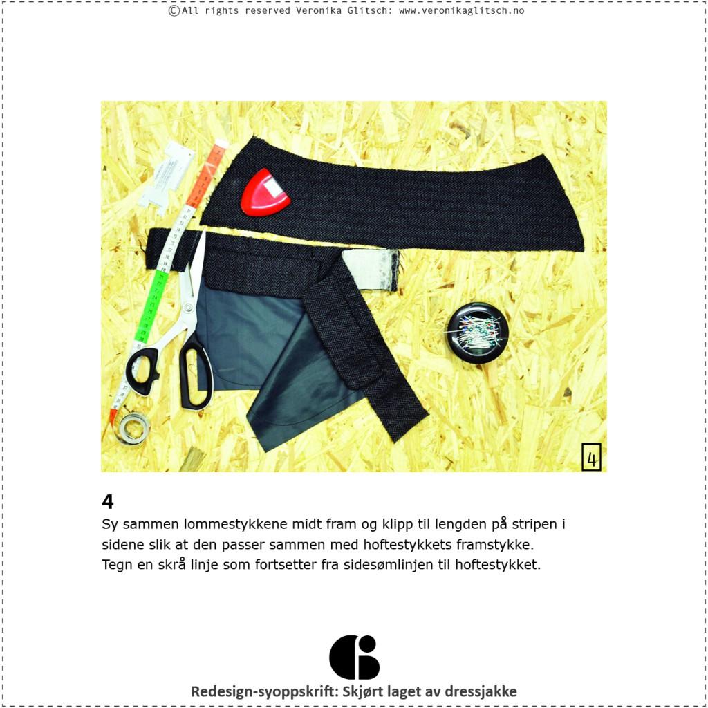 Skjørt laget av dressjakke, redesignsyoppskrift6