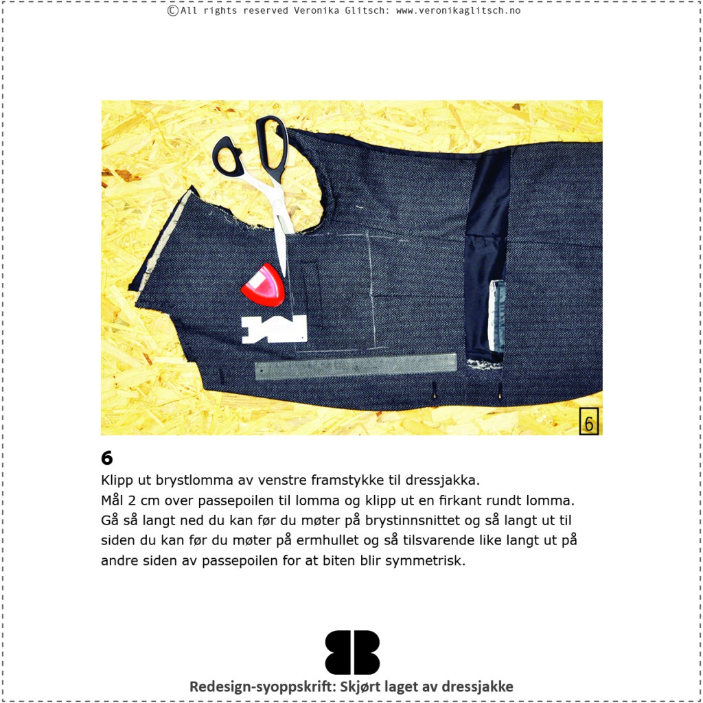 Skjørt laget av dressjakke, redesignsyoppskrift8