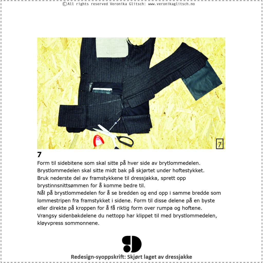 Skjørt laget av dressjakke, redesignsyoppskrift9