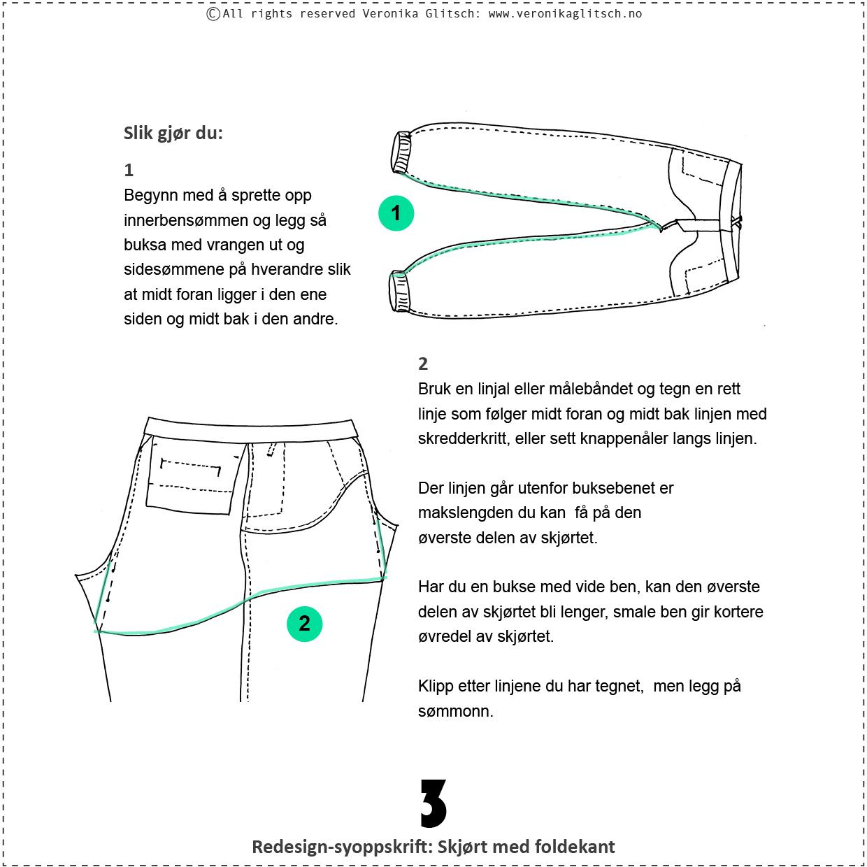 Skjørt med foldekant, bloggredesignsyoppskrift3