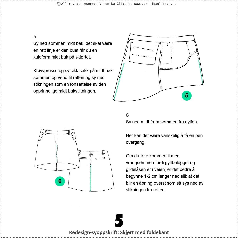 Skjørt med foldekant, bloggredesignsyoppskrift5