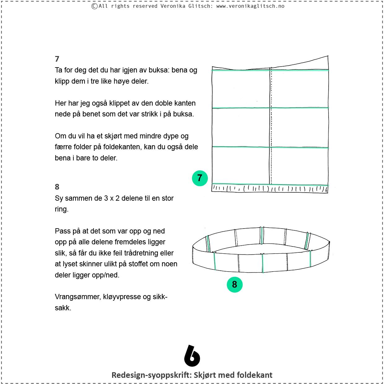 Skjørt med foldekant, bloggredesignsyoppskrift6