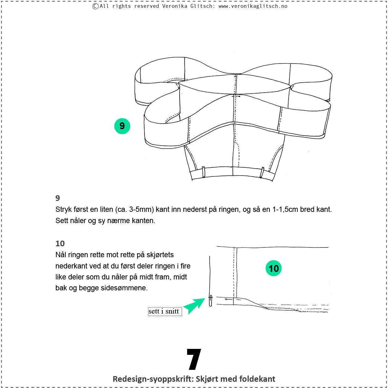 Skjørt med foldekant, bloggredesignsyoppskrift7