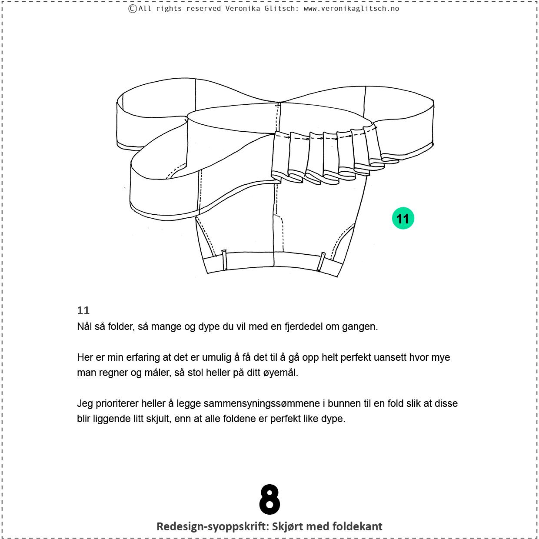 Skjørt med foldekant, bloggredesignsyoppskrift8