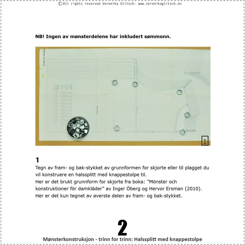 Halssplitt med knappestolpe, monsterkonstruksjon2