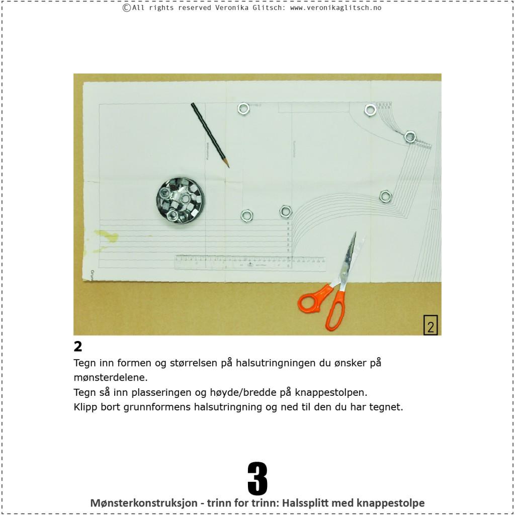 Halssplitt med knappestolpe, monsterkonstruksjon3